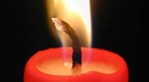 Significado de la mecha de las velas al arder