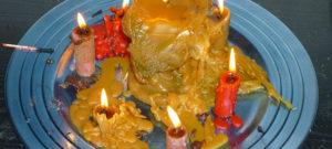 Significados de las formas concretas de los restos de las velas