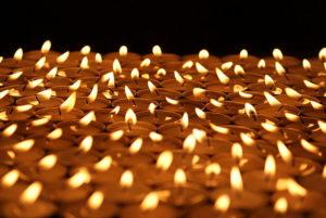 Interpretación del sonido de una vela al arder